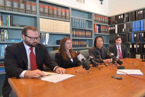 Chip Lewis, Amanda Culbertson, Jorge Wong, and Scott Cook press conference