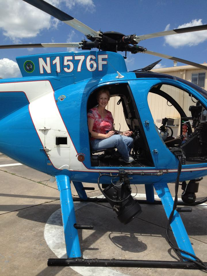 Patricia Pollard was given a ride on a Houston Police Department helicopter because she was a grand jury foreperson.
