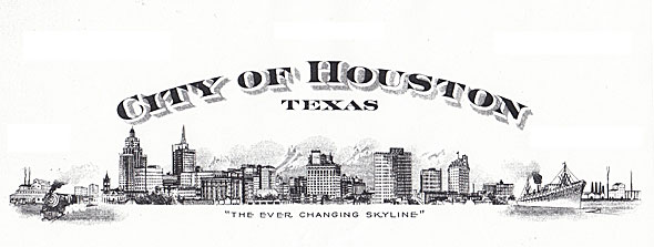 Old promo picture of City of Houston skyline