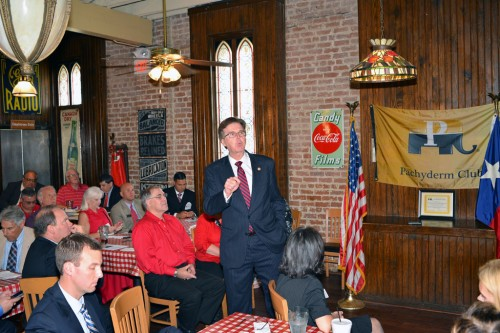 Sen. Dan Patrick at the Downtown Houston Pachyderm Club