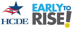 HCDE Early to Rise logo