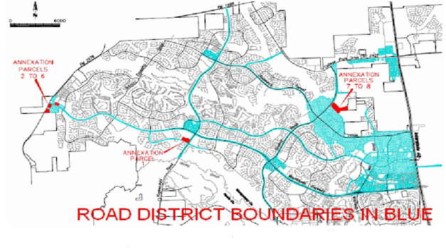 Map of Woodlands Road Utility District