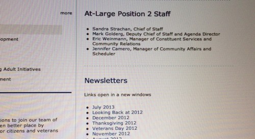 Eric Weinmann staff position on CoH website