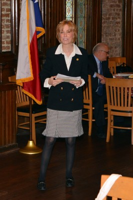 Rep. Debbie Riddle addresses the Downtown Houston Pachyderm Club 1-23-14