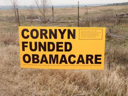 cornyn funded obamacare sign