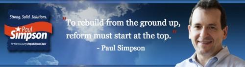Paul Simpson campaign banner
