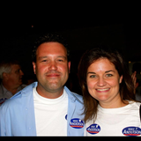Ryan Chandler & Ingwe Hampton at Mike Anderson victory party