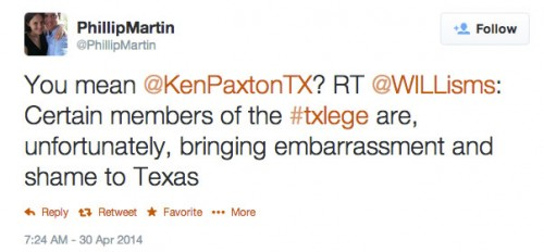 phillip martin tweet about ken paxton