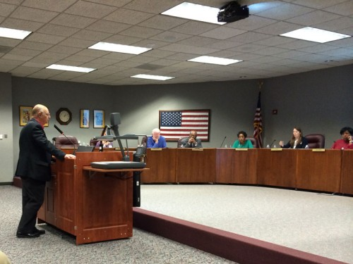 Don Sumners addresses the HCDE board
