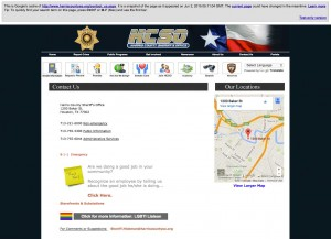 Harris County Sheriff Contact Page with LGBTI Liason