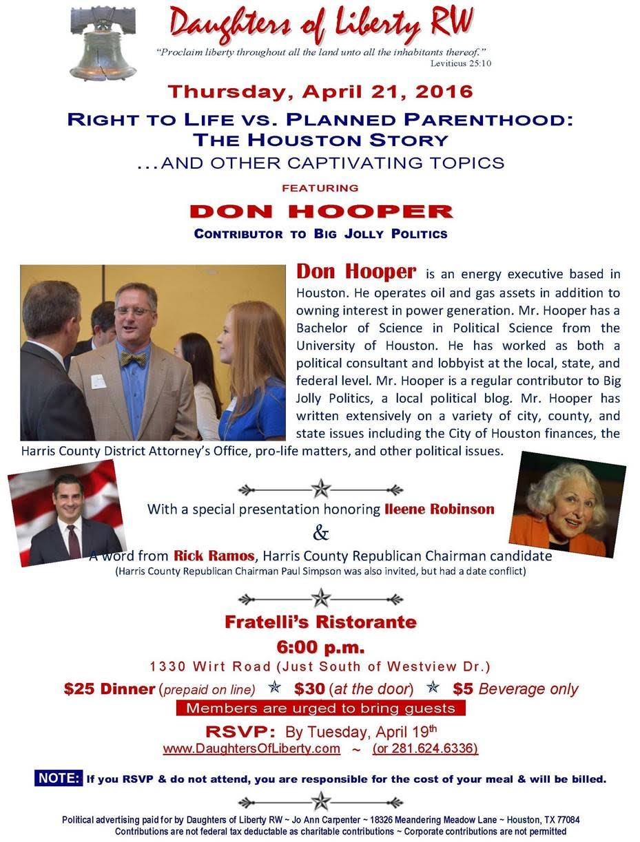 daughters of liberty invite don hooper