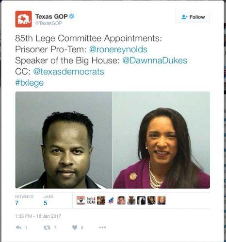 texas democrat ron reynolds diana dukes