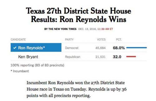 texas democrat ron reynolds
