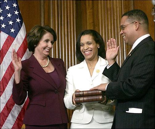 Speaker Nancy Pelosi swears in Keith Ellison using the Koran.