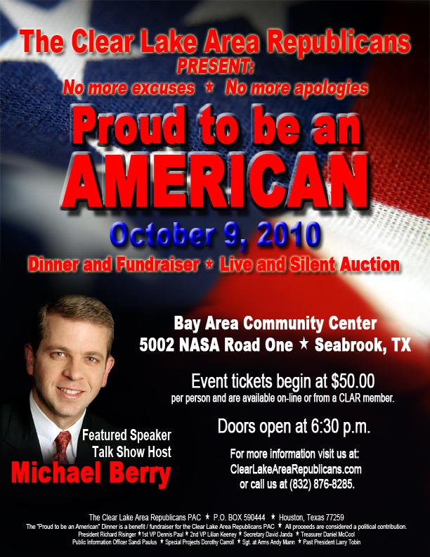 Clear Lake Area Republicans Fundraiser