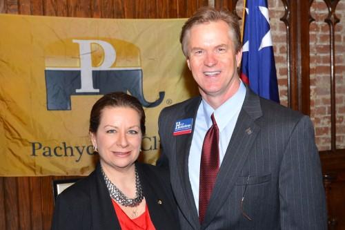 Sophia Mafrige with Rep. Harvey Hilderbran