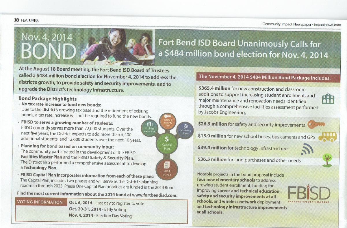 Open records requests seeks info on Fort Bend ISD Bond
