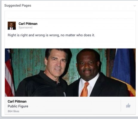 carl pittman with rick perry