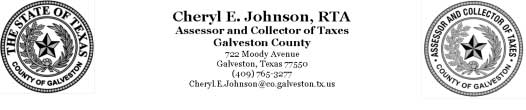cheryl johnson galveston county tax assessor