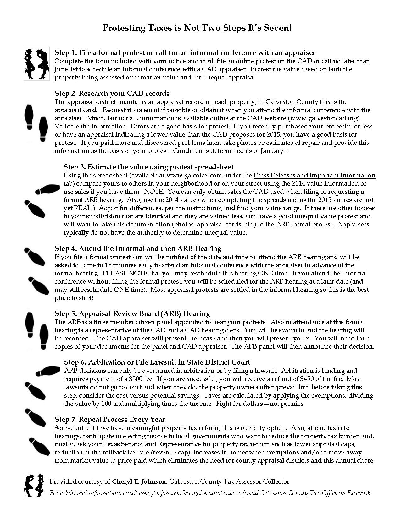 cheryl-johnson-texas-tax-seven-step-protest-process
