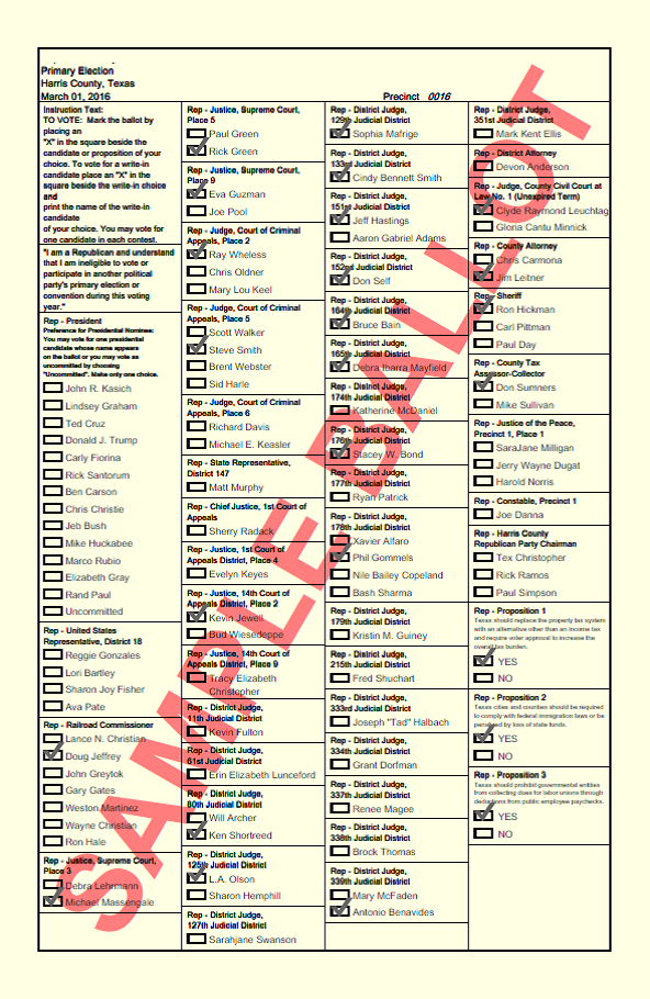 showing 3rd image of Sample Ballot 2018 For Houston County Texas Vote Houston 2018: Candidate Guide, ID Info, Sample Ballot ...