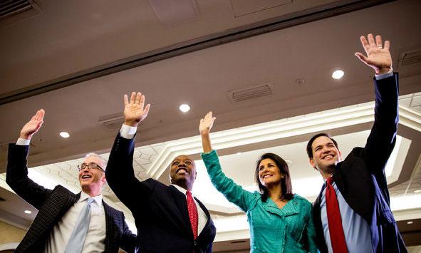 Rep. Trey Gowdy, Sen. Tim Scott, Gov. Nikki Haley, Sen. Marco Rubio - The New Republican Party