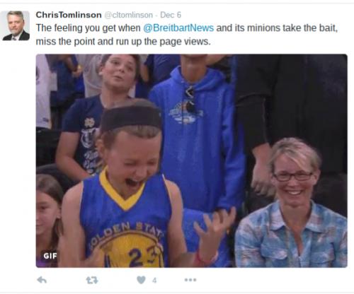chris tomlinson is a bigot