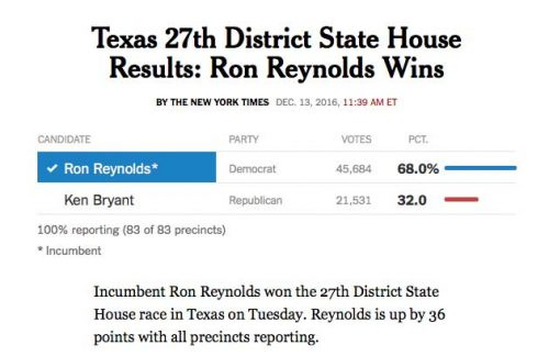texas democrat ron reynolds