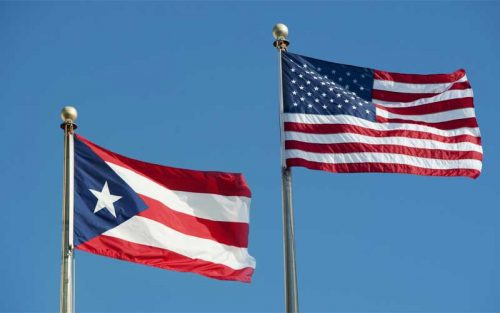 Puerto Rico US flags