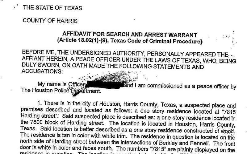 police release property get search warrant